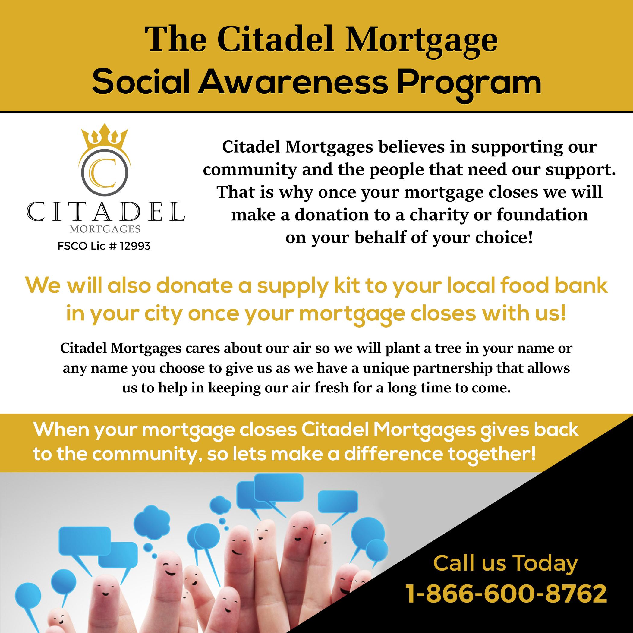 Social Awarenece - Citadel Mortgages