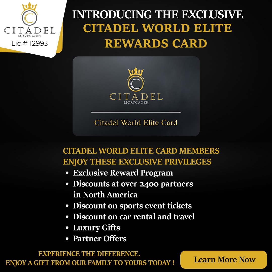 Citadel Mortgages Rewards Card