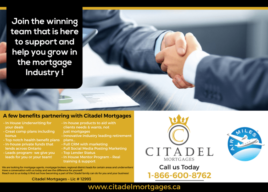 Now Hiring Citadel Mortgages - Become a Mortgage Agent
